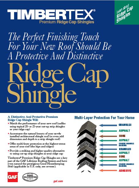 Ridge Cap Shingle