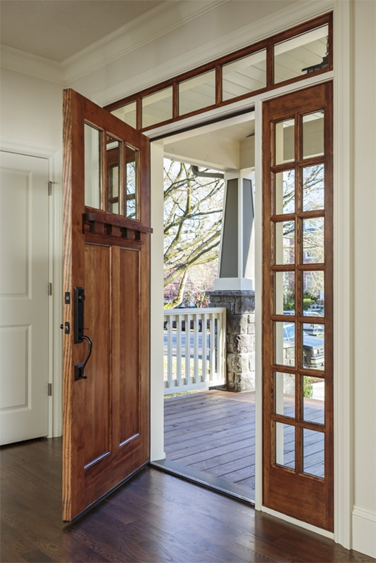 I Craftsman Front Door With Sidelights And Transom