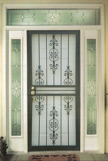Arch Top Security Storm Doors