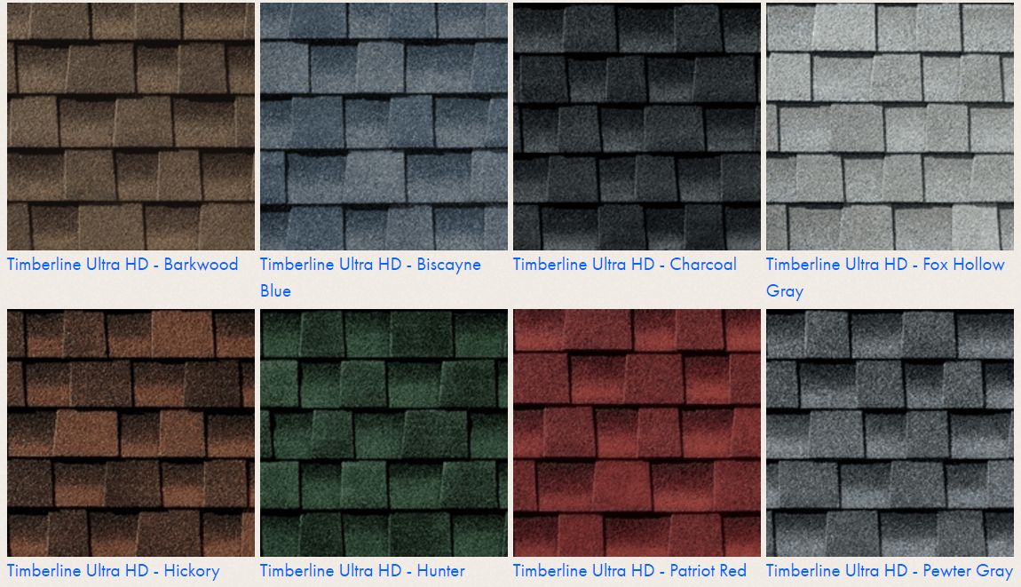 Roofing Colors