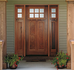 Attirant Pella_Wood_EntryDoors_craftsman  Craftsman_front_doors_with_sidelights.png