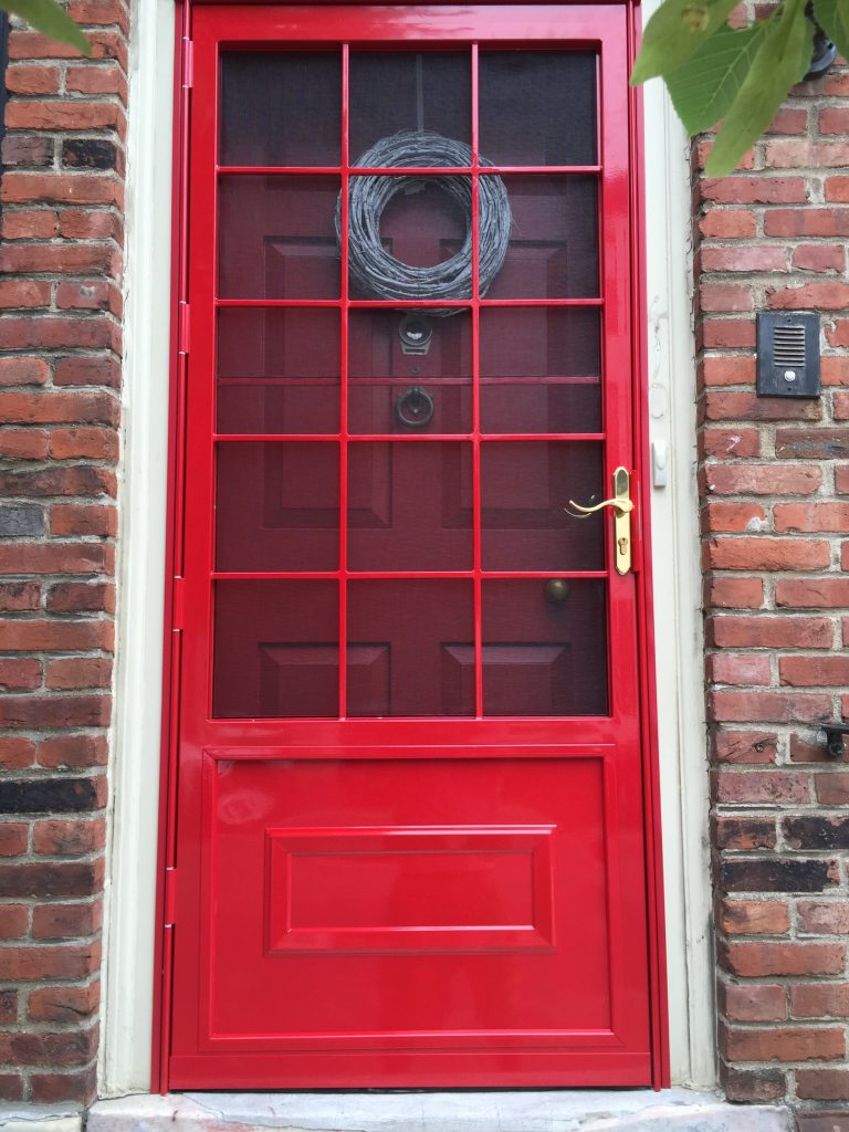 Security Door Colors And Finishes Red Security Storm Doors