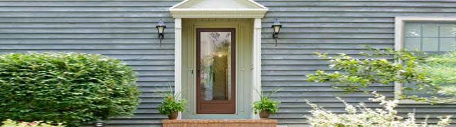 Roll screen storm door types for Storm door with roll up screen